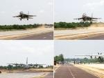 Rajnath, Gadkari inaugurate emergency landing strip close to Indo-Pak border in Rajasthan's Barmer