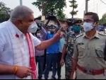 Bengal Guv Jagdeep Dhankhar shown 'black flags' during his visit to post-poll violence-hit Cooch Behar