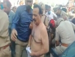 Punjab : Farmers thrash BJP legislator in Malout, tear off his clothes