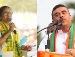High voltage Nandigram battle between Mamata Banerjee and Suvendu Adhikari in Bengal today