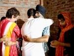 Congress leaders Rahul Gandhi, Priyanka Gandhi Vadra meet Lakhimpur victims' families