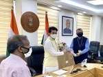 Anurag Thakur takes charge as Information and Broadcasting Minister