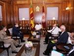 Indian Foreign Secretary Harsh Vardhan Shringla meets Sri Lankan President Gotabaya Rajapaksa
