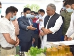 Union Minister Bhupender Yadav visits Bandipora, Kashmir