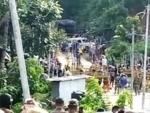 Tension escalates again along Assam-Mizoram border, Mizo miscreants try to stop road construction work in Cachar