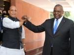 United States Defence Secretary Lloyd J Austin meets Rajnath Singh, S Jaishankar