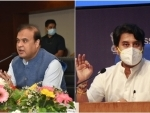 Himanta Biswa Sarma requests Jyotiraditya Scindia for enhancing air connectivity to Assam