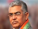 Attack on Hindus: BJP leader Dilip Ghosh participates in protest against Bangladesh violence in Delhi