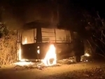 WB: Polling-duty vehicle allegedly set ablaze in Purulia's Bandwan a night before election, no casualty
