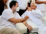 Lalu Yadav, Rahul Gandhi visit Ramvilas Paswan's residence on death anniversary, pay tributes