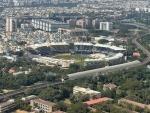 Modi catches fleeting aerial view of India-England cricketing action at Chennai's Chidambaram stadium