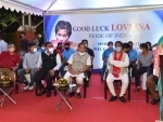 Assam CM Himanta Biswa Sarma participates in programme organised to pray for Lovlina Borgohain