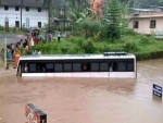 Five killed as heavy rains flood roads, trigger landslides in Kerala