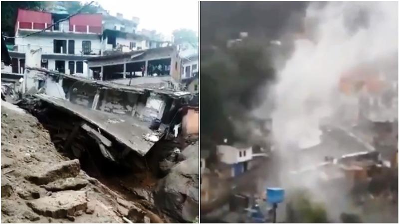 Cloud burst damages shops, houses in Uttarakhand's Devprayag