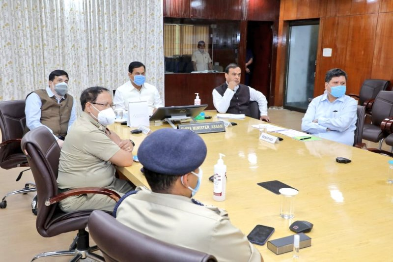 Assam CM Sarbananda Sonowal reviews COVID-19 situation