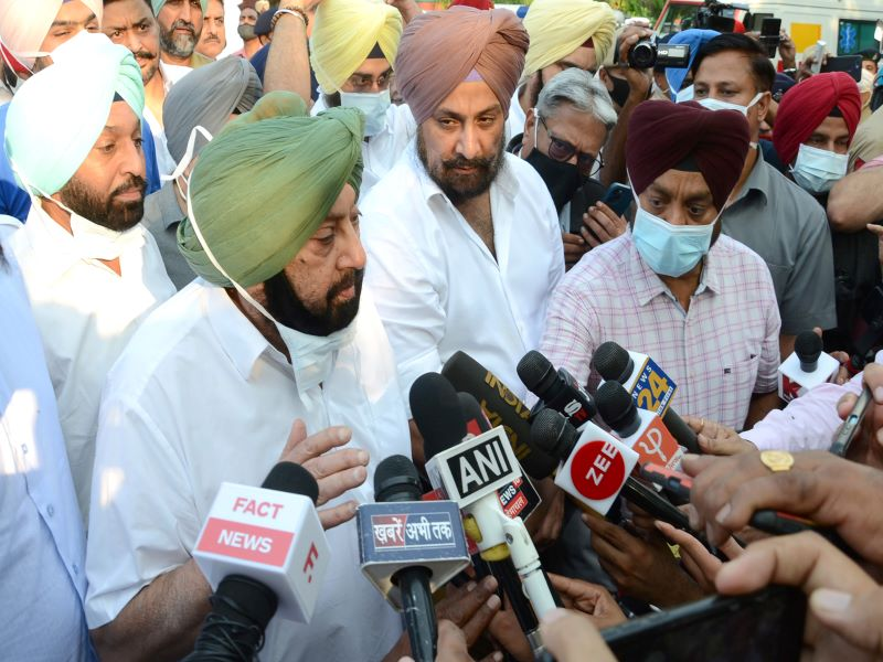 Political parties react to Amarinder Singh's resignation