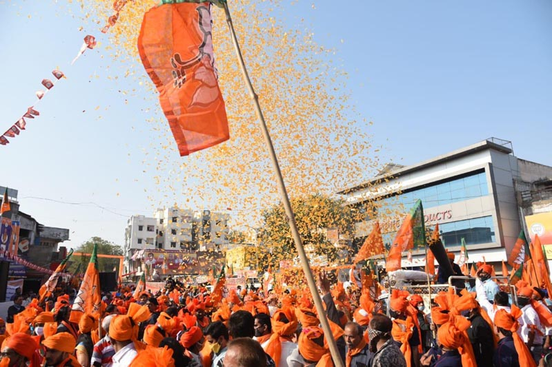 BJP set for sweep in Gujarat municipal polls as counting of votes underway
