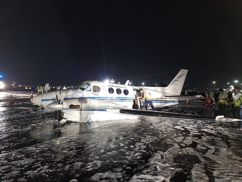 Air ambulance carrying Covid patient makes belly landing at Mumbai airport after losing wheel
