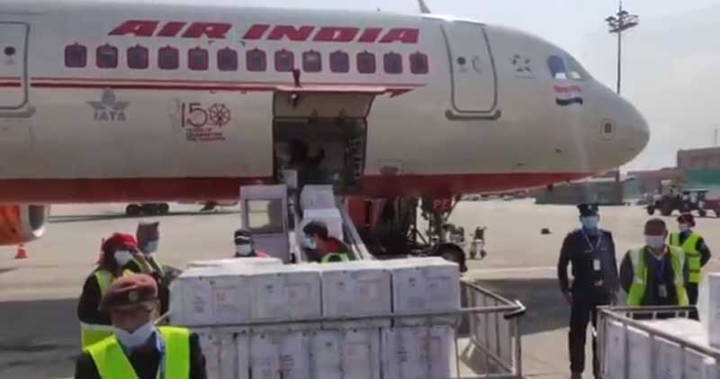 Fighting COVID-19: Nepal receives second shipment of 1 million vaccine doses from India