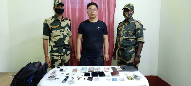 Chinese national wanted by ATS caught while crossing into Indian territory from Bangladesh