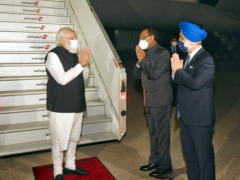 Naredra Modi arrives in New York, to address 76th UNGA session today