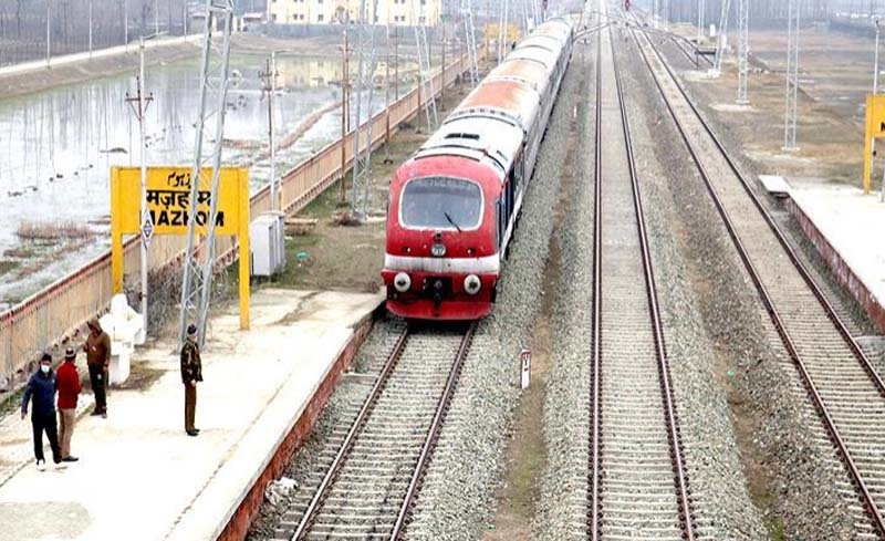 Jammu and Kashmir: As train chugs after 11 months, travellers cheer up