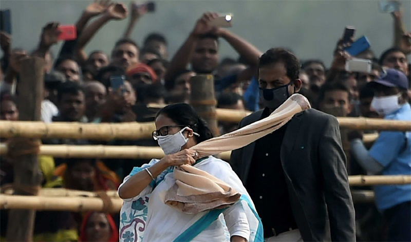 Mamata in Nandigram during the day