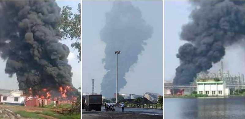 West Bengal: Major fire breaks out at Haldia Petrochemicals, firefighting ops underway