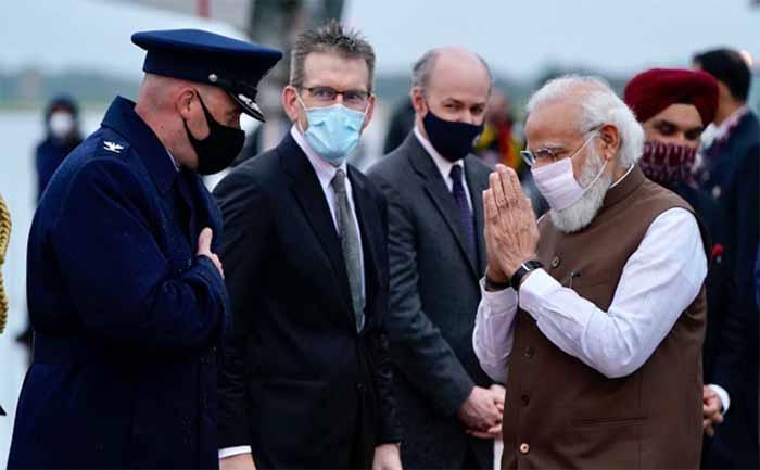 Narendra Modi arrives in US