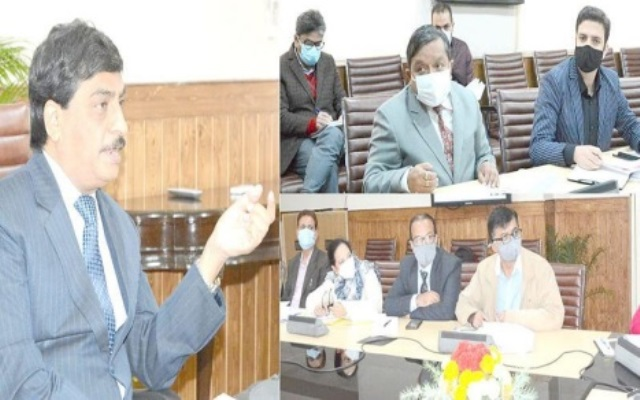 Kashmir Chief Secretary reviews centrally sponsored schemes of H&UD department