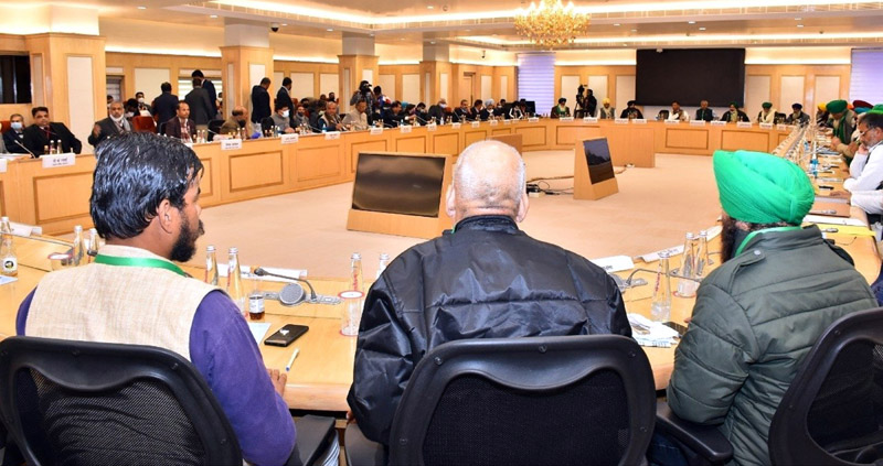 Ninth round of Centre-farmer talks fails to end stalemate