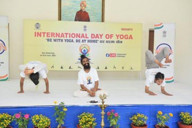 Indian embassy in Nepal organizes 7th International Yoga Day
