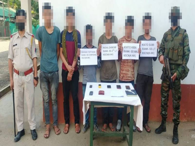 Security forces apprehended four NSCN cadres in Nagaland's Dimapur