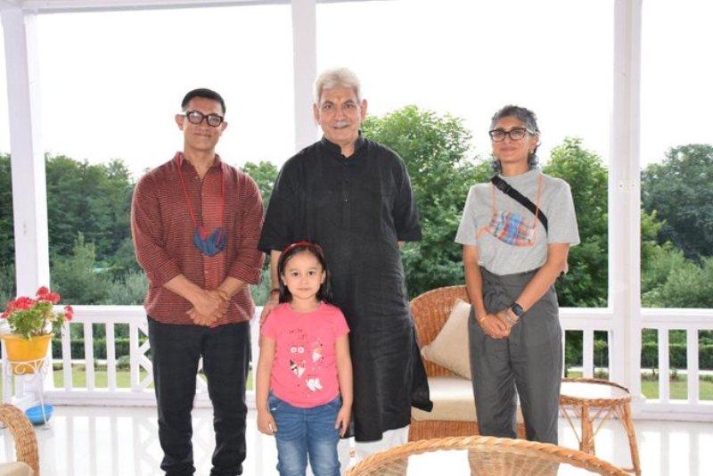 'Met renowned actor': J&K guv Manoj Sinha tweets after meeting Aamir Khan, Kiran Rao