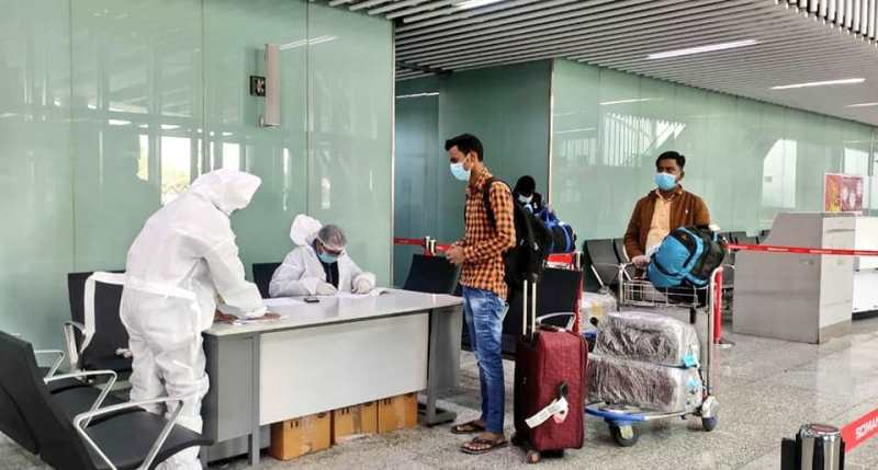 Around 300 air passengers fled from Silchar airport without COVID-19 tests