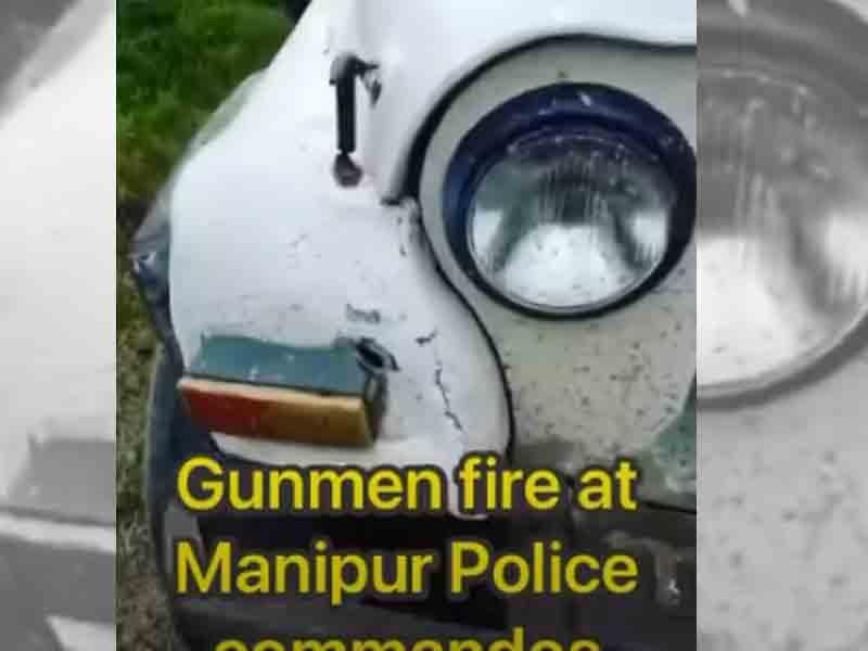Unidentified gunmen open fire on Manipur police, one cop injured