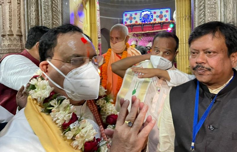 JP Nadda in poll-bound Bengal, tribal community welcomes him in Paschim Bardhaman
