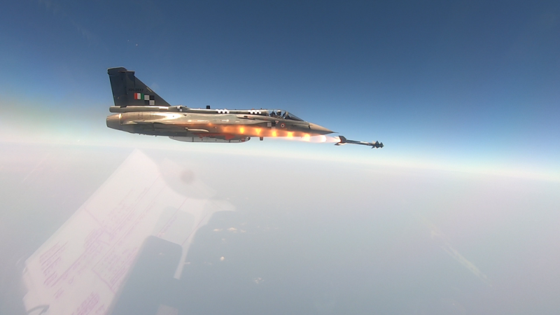 Maiden trial of Python-5 air to air missile for India's LCA