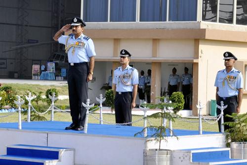 Arup Raha visits Air Force Station