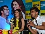 Arjun, Alia promote '2 States' in Kolkata