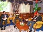 Bikram Singh meets Maldives Prez
