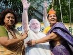 BJP supports celebrate in Kolkata