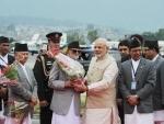 Modi reaches Nepal