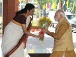 """Modi releasing the logo at the inauguration of the """"MAKE IN INDIA"""""""