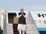 Modi arrives at Tribhuvan International Airport