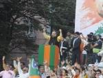 Amit Shah addresses rally in Kolkata