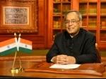 Pranab Mukherjee addresses nation on the eve of I-day
