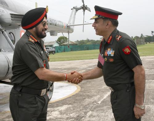 Bikram Singh visits Headquarters Eastern Command