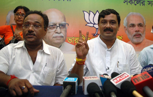 Rahul Sinha address media in Kolkata