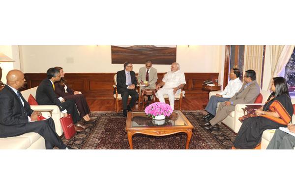 Bill Gates, Melinda call on the PM Modi